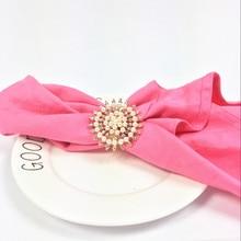 5PCS napkin ring alloy diamond buckle luxury wedding hotel supplies tableware table
