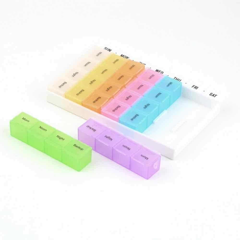 Горячие Продажа Новые 7 день таблетница планшет дот диспенсер Органайзер чехол с 28 органайзер для таблеток многоцветный контейнер для медикаментов