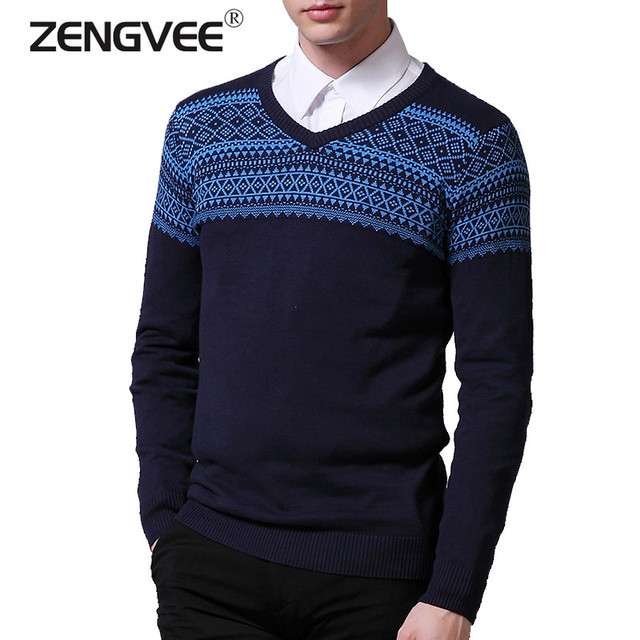 2017 New Autumn & Winter Top Quality Plaid O-neck Pullover Men Slim Fit Sweater Men Pull Homme Sudaderas Mens Sweaters 4 Colors