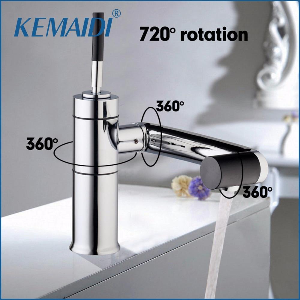Chrome Sink Basin Deck Mounted for Kitchen Bathroom Faucet Swivel 360 Brass Hot&Cold Water Torneiras Cozinha Tap Mixer Faucet