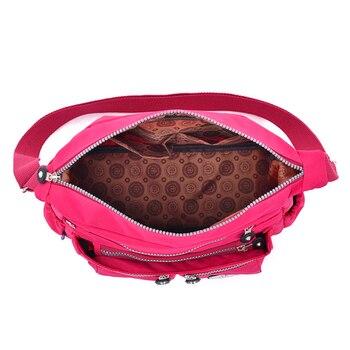 Women Nylon Shoulder Bags Female Solid Zipper Luxury Female Handag Designer Messenger Bags Summer Beach Crossbody Bag Sac A Main 4