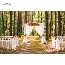 Wedding Flower Backdrops For Photography Curtain Door Stage Love Ceremony Outdoor Scenic Photography Background For Photo Studio цены