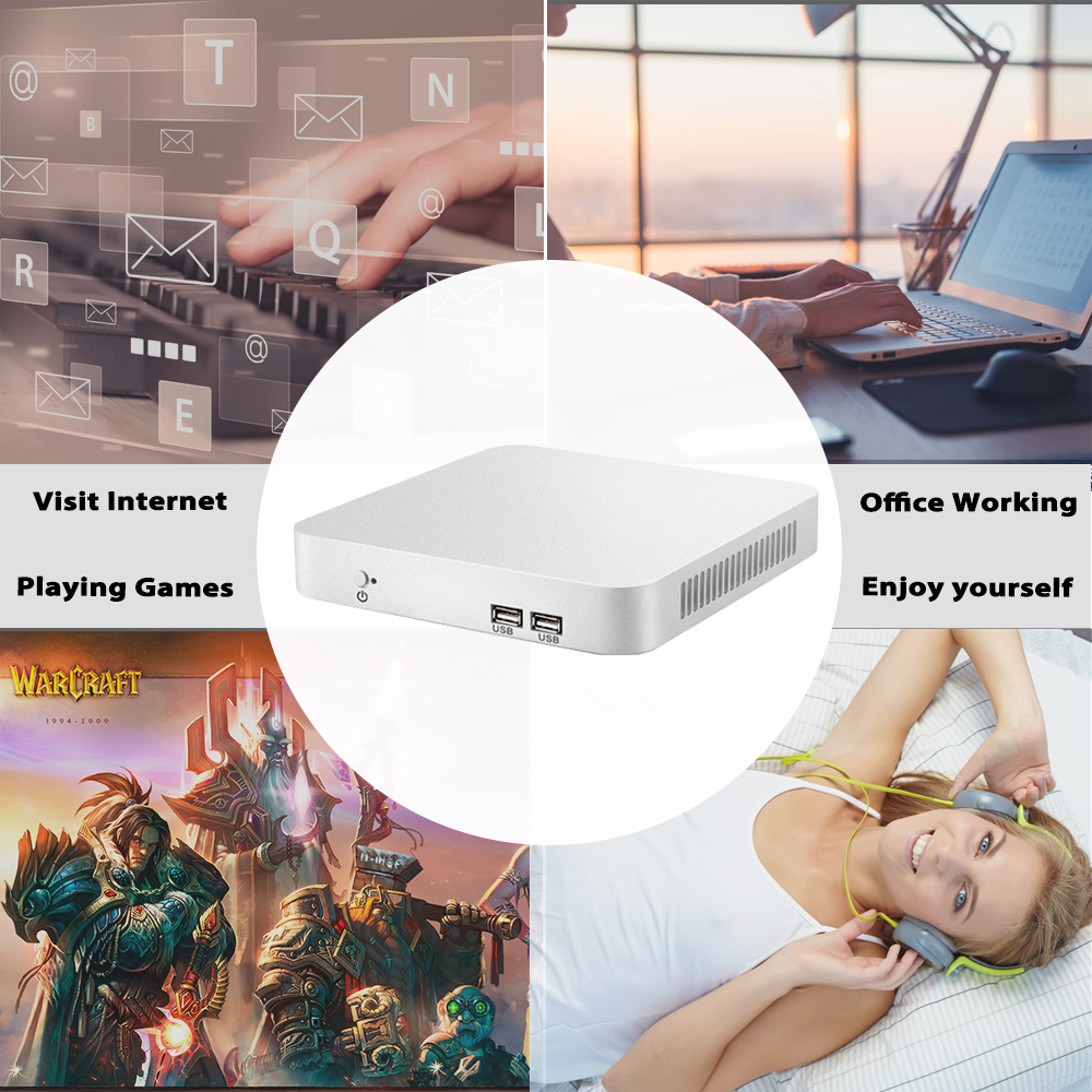 Image 4 - Mini PC 7th Gen Core i7 7500U i5 7200U i3 7100U Windows 10 4K Computer HD Graphics 620 HDMI WIFI USB3.0 Desktop gaming pc-in Mini PC from Computer & Office
