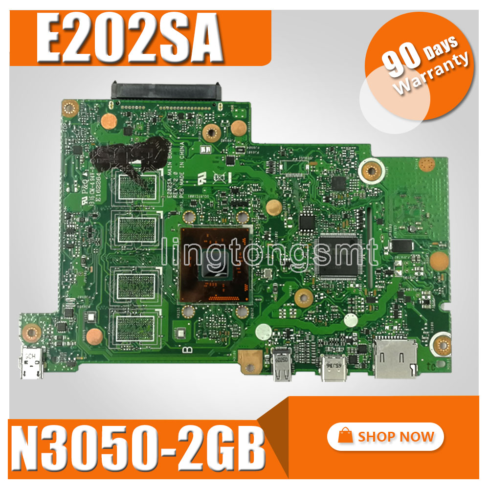 E202SA motherboard For ASUS E202S E202SA laptop motherboard E202SA mainboard 2GB RAM N3050 CPU motherboard test 100% ok ноутбук asus e202sa intel n3700 2gb 500gb 11 6