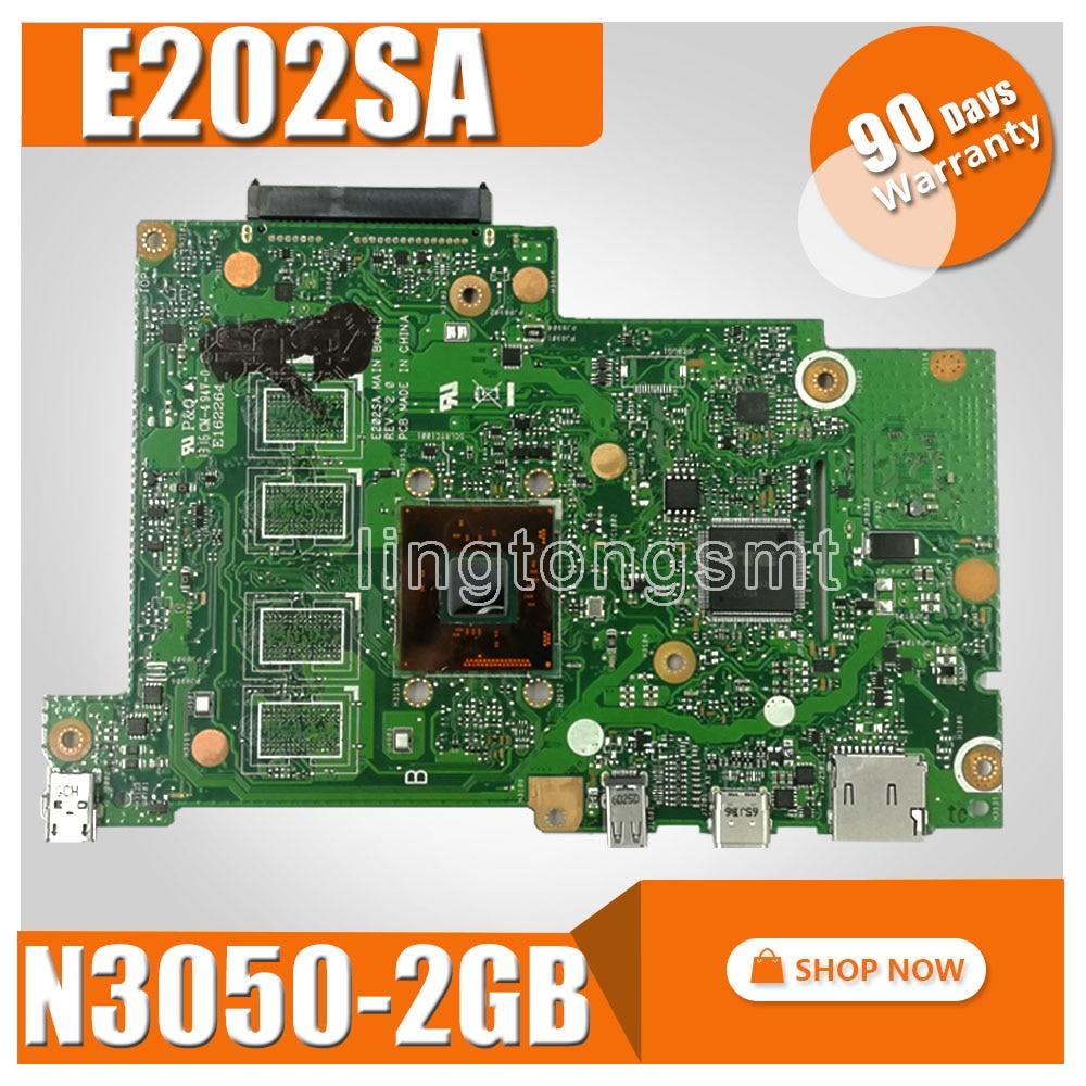 все цены на E202SA motherboard For ASUS E202S E202SA laptop motherboard E202SA mainboard 2GB RAM N3050 CPU motherboard test 100% ok