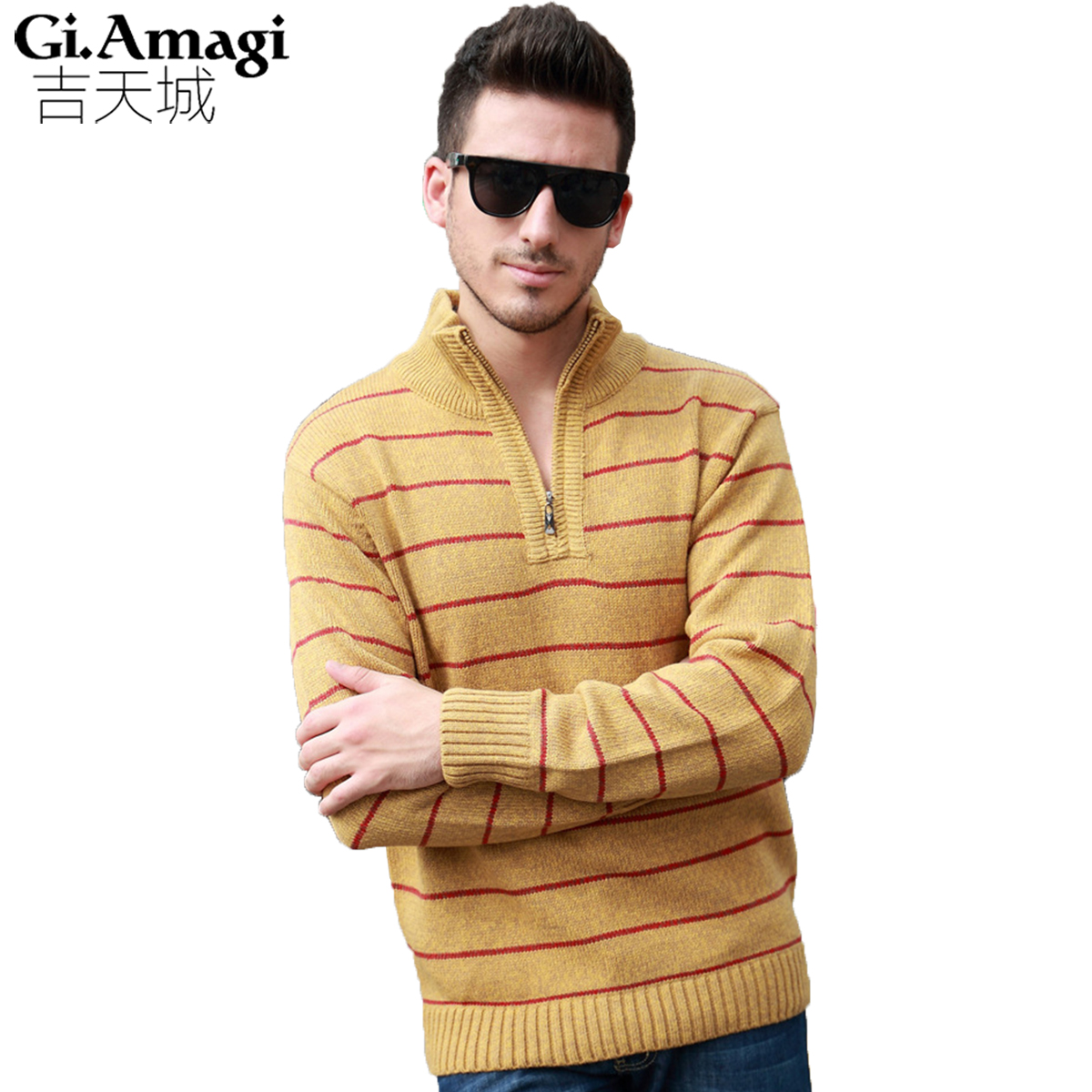Sweater Men Winter Thicking 2017 Full Length Turtleneck Striped Mens  Sweater Pullovers-in Pullovers from Men s Clothing   Accessories on  Aliexpress.com ... 787a74aad0
