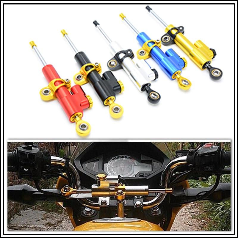 ФОТО for moto CNC Damper Steering StabilizerLinear Reversed Safety Control Over for mt 07 yamaha mt 09 mt09 harley 883 diy kit z1000