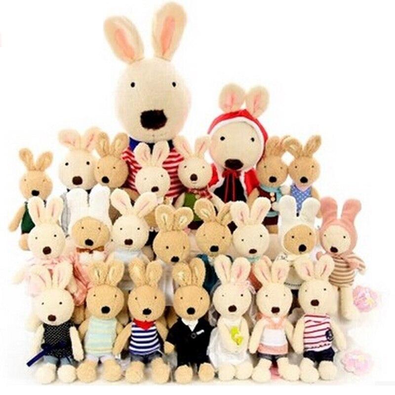 1pc Kawaii Dressing Rabbit Bunny Plush Dolls Soft Rabbits Stuffed Animals Kids Toy Big Hare Appease Toys For Girls Children Gift