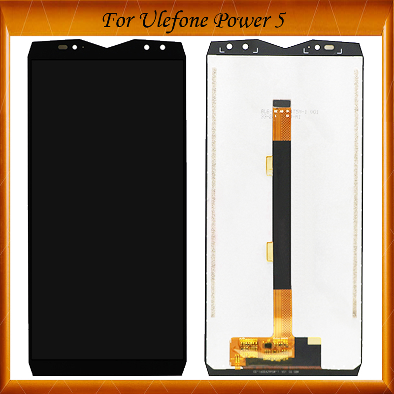 100% Original Tested 6.0 inch For <font><b>Ulefone</b></font> <font><b>Power</b></font> <font><b>5</b></font> LCD Display+Touch <font><b>Screen</b></font> LCD Digitizer Glass Panel For Power5 LCD image