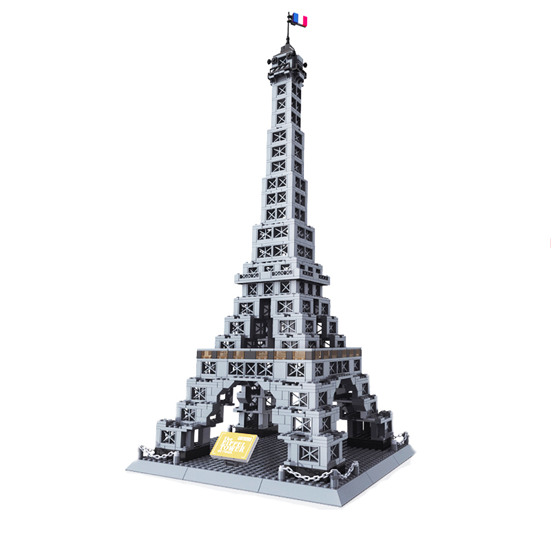 Wange 5217 France Eiffel Tower Architecture Building Blocks Creative Model for Children Gifts Creator 10181