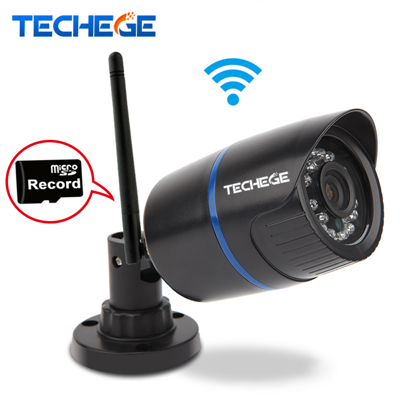 Techege 1080P WIFI IP Camera Audio Record Outdoor Waterproof P2P ONVIF Night Vision 2.0MP Wireless Wired Motion Detection wifi webcam 1080p ip camera waterproof security p2p outdoor camera motion detection alarm video record email alert onvif cctv