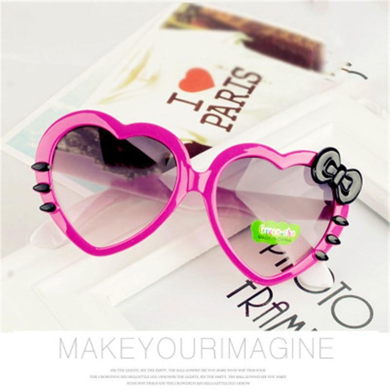 Kids Sunglasses Fashion Heart Shaped Cute Children glassesDesigner Frame Eyewear Baby Girls Sun Glasses lentes de sol oculos