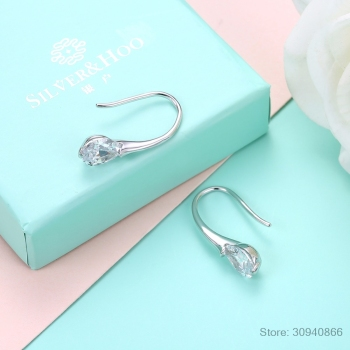 LEKANI 2019 NEW SALE Fine jewelry 925 Sterling silver Original Crystal From Swarovski Bella Mini Piercing Fashion Earrings 1