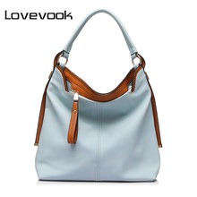 LOVEVOOK large shoulder crossbody bags for women handbag female messenger bags artificial leather tote bags ladies purses 2018(China)