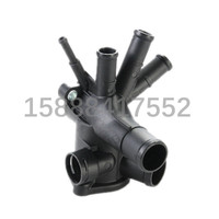 100pcs Auto Cooling System Thermostat Housing Thermostat Cover Thermostat Coolant Water Outlet 030121117N 030 121 117N