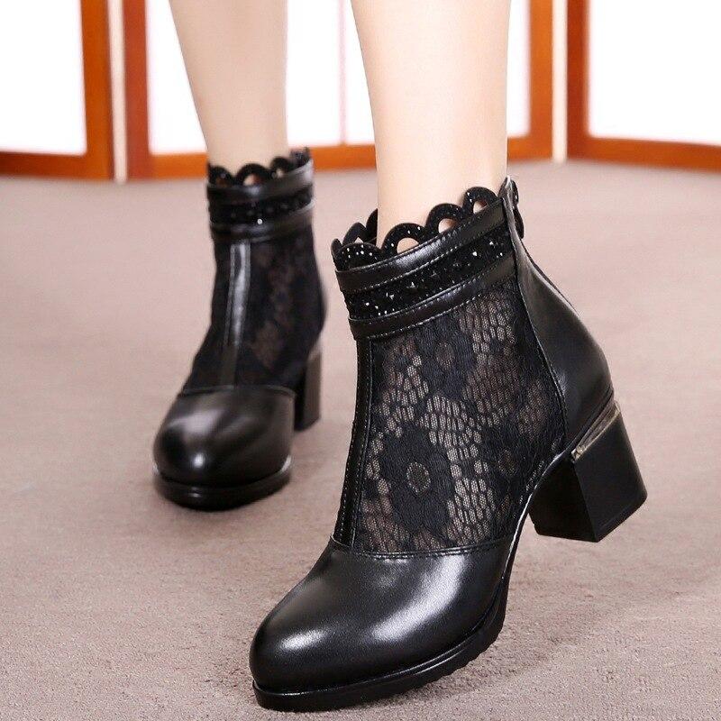2ba1076f7bda42 Tendance Célèbre Talons Sandales Printemps Femme Cowhide Bottes Chaussures  Zxryxgs 002 Hauts matte Respirant Bottines Dentelle 001 Cuir De ...