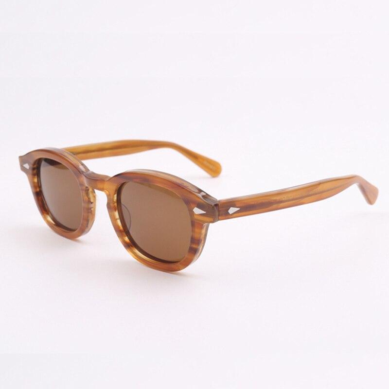 Johnny Depp Sunglasses Acetate Frame Men Woman Brand Designer Polarized Sun Glasses UV400 Driving Shades Top Quality SQ080-2