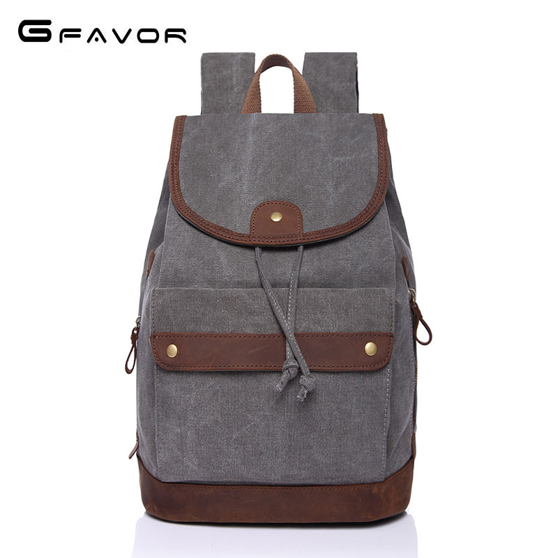 Canvas Men's 15 inch Laptop Backpack Computer Male School Backpacks Rucksacks Leisure Teenage Mochila Escolar Lovers Bag CB6661 children school bag minecraft cartoon backpack pupils printing school bags hot game backpacks for boys and girls mochila escolar