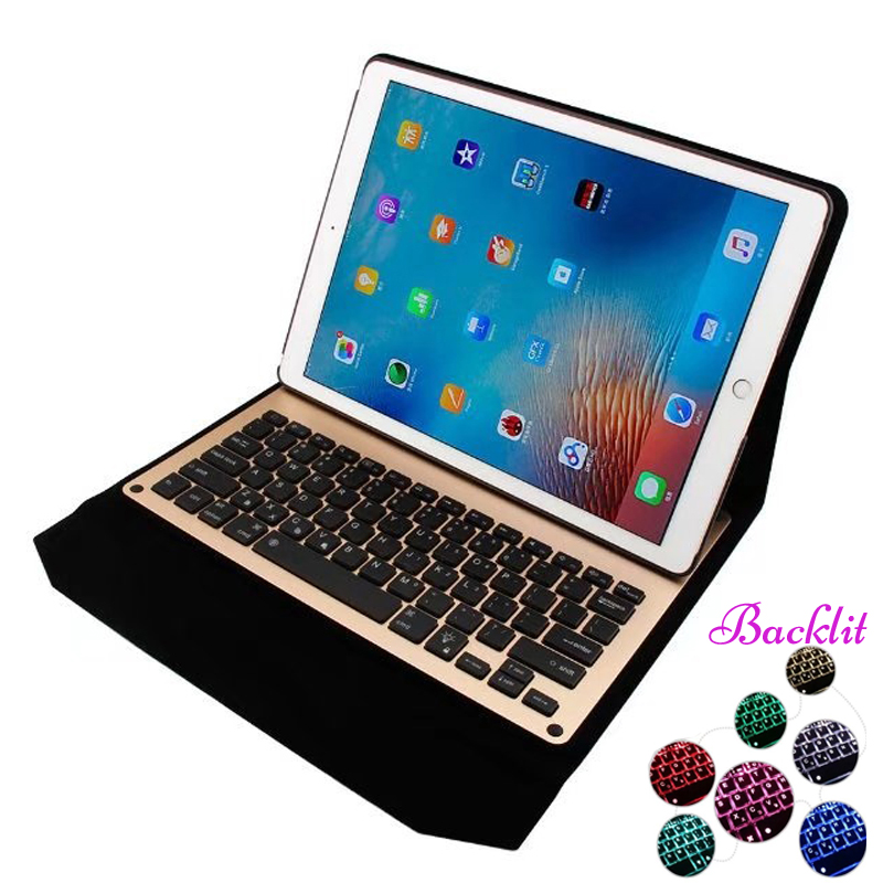 7 colors LED Backlit backlight Cover Wireless Bluetooth Aluminum Business Keyboard Case for iPad Pro 12.9 Built-in Battery 10 50 meters pack 1m per piece led aluminum profile slim 1m with milky diffuse or clear cover for led strips