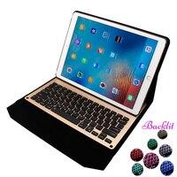 7 farben LED hintergrundbeleuchtung hintergrundbeleuchtung Drahtlose Bluetooth Aluminiumgeschäft Tastatur Fall für iPad Pro 12,9 Eingebaute Batterie