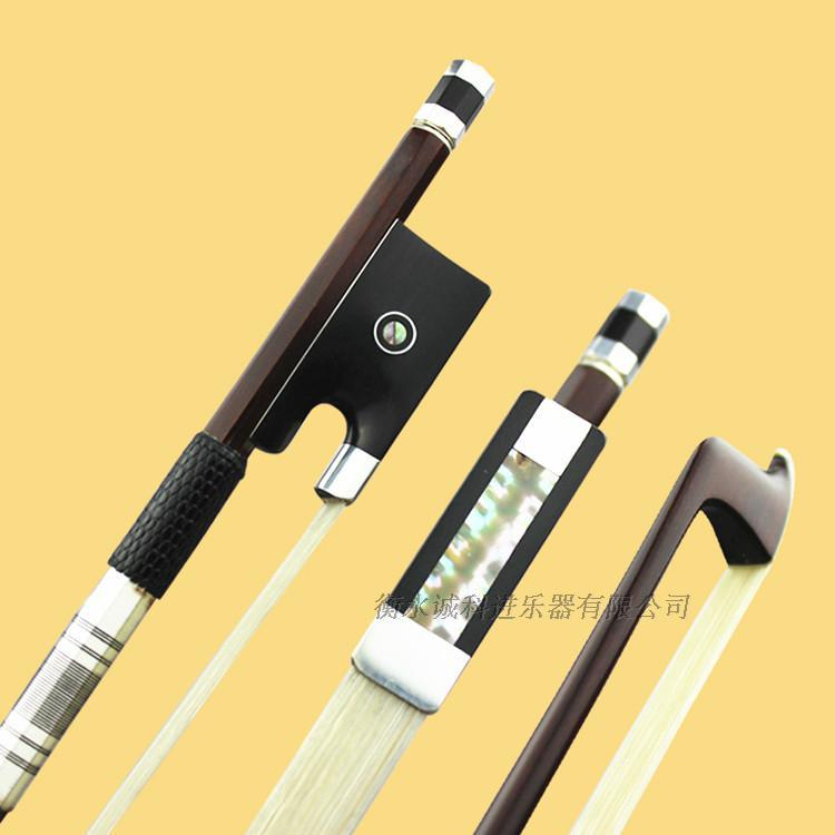 AAAAA+ Professional Pernambuco wood 4/4 violin bow white siberia horsetail nickel siver mounted ebony frog free shipping #9 1 4 size 812vb pernambuco violin bow high density ebony frog with nickel silver good quality hair straight violin accessories