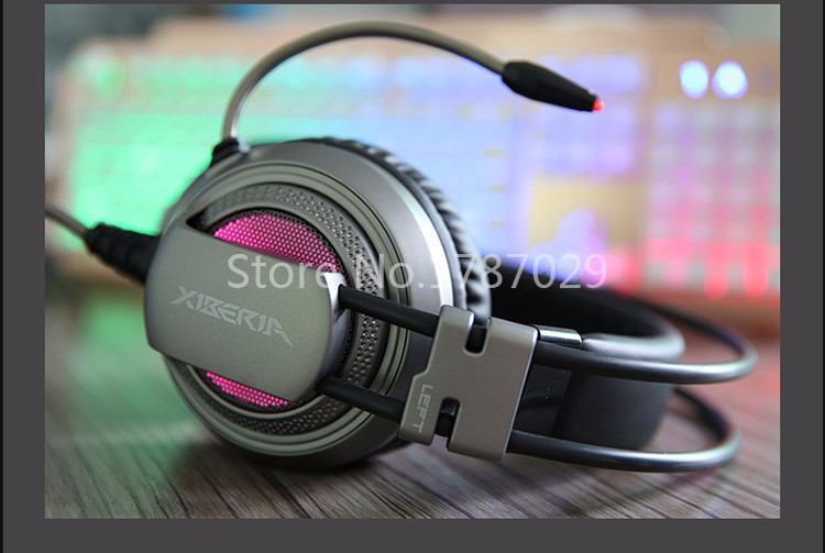 Best Computer Gaming Headset Headband with Microphone Mic XIBERIA V10 Heavy Bass Stereo Game Headphone Light for PC Gamer (27)