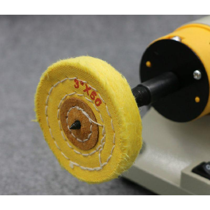 4pcs 80mm Cotton Cloth Grinding Machine Grinding Wheel Yellow Cloth Buffing Wheel Jewelry Metal Jade Mirrow Polishing Disc  цены