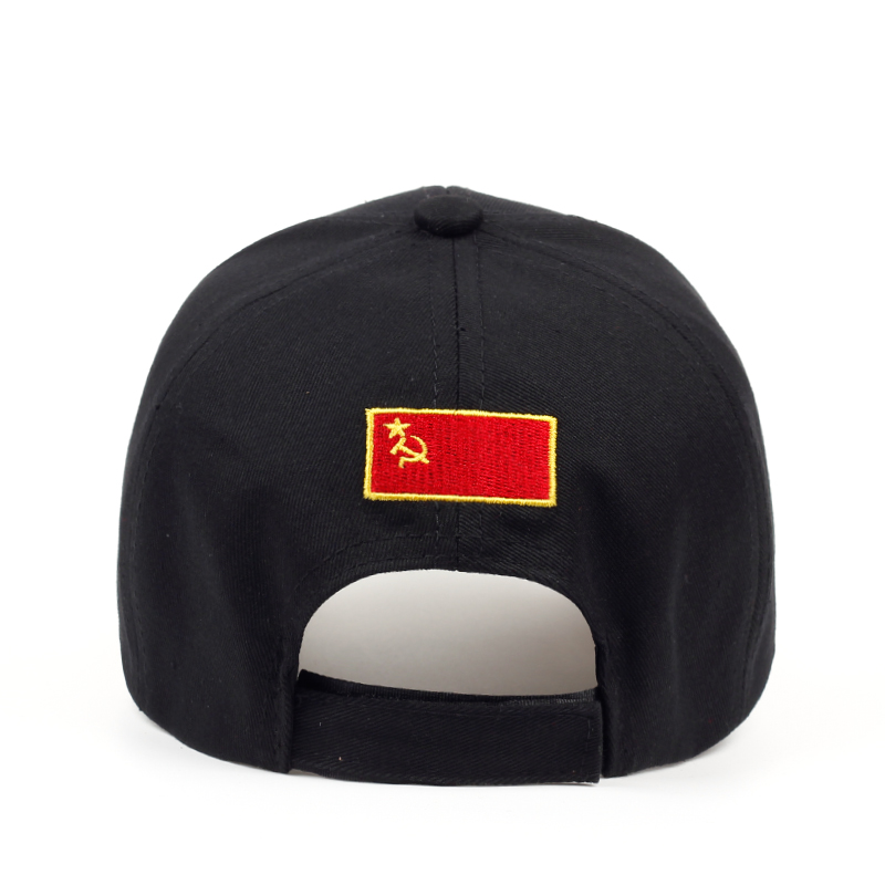 2019 CCCP USSR Russian Style Baseball Cap Unisex black Red cotton snapback Cap with 3D embroidery Best quality hats 3
