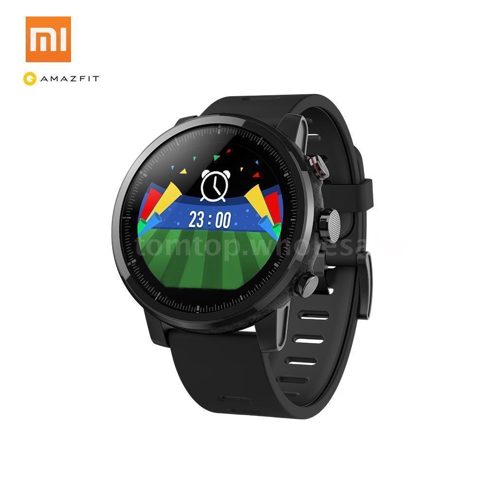 Huami Amazônia 2 Amazônia Stratos Ritmo 2 Homens Relógio Inteligente com Monitor de Freqüência Cardíaca GPS Xiaomi Relógios PPG 5ATM À Prova D' Água