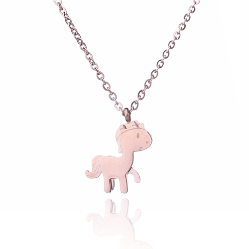 Aoloshow Rose Gold Color Simple Necklace For Women Charm Cute Horse Stainless Steel Pendant Girlfriend Necklace Nl 2463 Simple Necklace Necklaces For Womensteel Pendant Aliexpress