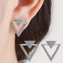 Романтический минималистичный треугольник из настоящего серебра
