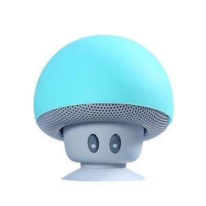 Image 5 - 漫画キノコワイヤレス Bluetooth スピーカー防水吸盤屋外ポータブル電話ブラケット Huawei 社 Xiaomi iphone サムスン