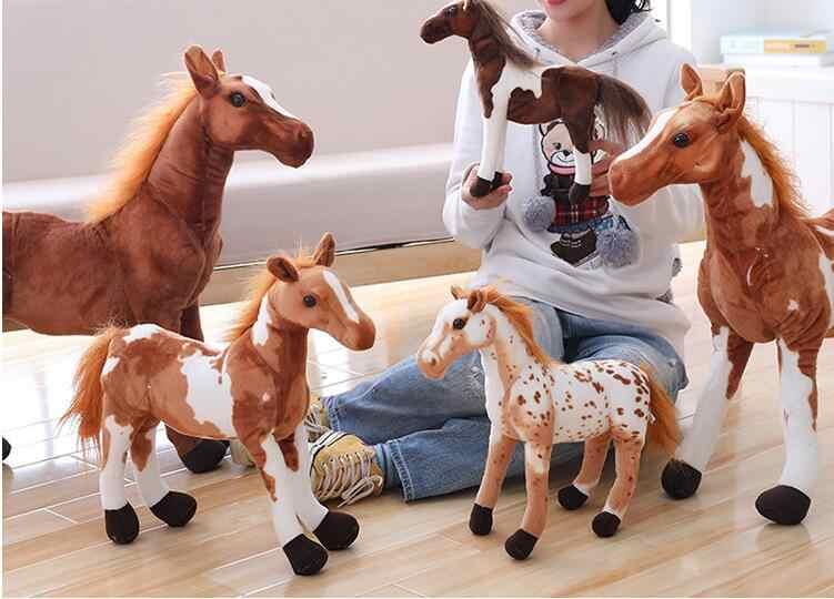 Simülasyon Oyuncak At Peluş doldurulmuş oyuncak Bebek Siyah Zebra Beyaz Atlar Yastık Çocuk doğum günü hediyesi Ev Dekor peluche