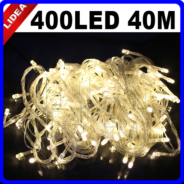 40m 400 Led Garden Home Party New Year Xmas Navidad Decoration Outdoor Fairy String Wedding Garland