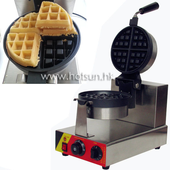 Non-stick 110v 220v Electric Commercial Rotating Waffle Baker Maker Machine Iron