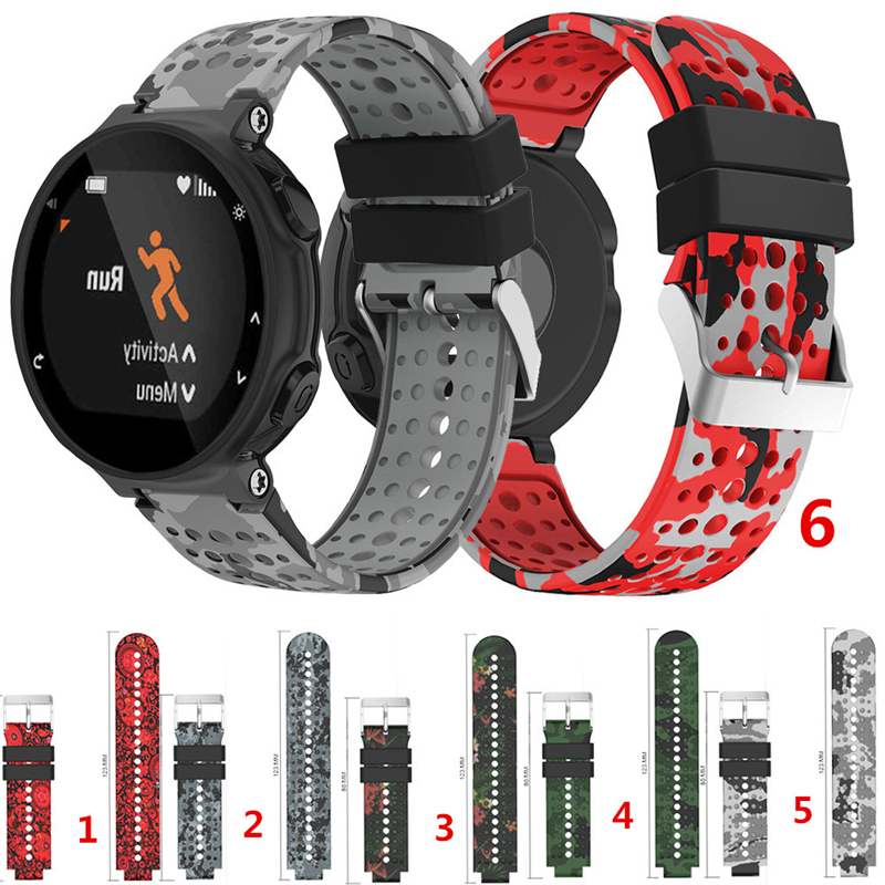 Silicone Band Outdoor Sport Replacement Bracelet for Garmin Forerunner 735XT/220/230/235/620/630 Rubber Watch Strap Wristband tempered glass protective film clear guard for garmin forerunner 220 225 230 235 620 630 735xt 935 watch screen protector cover