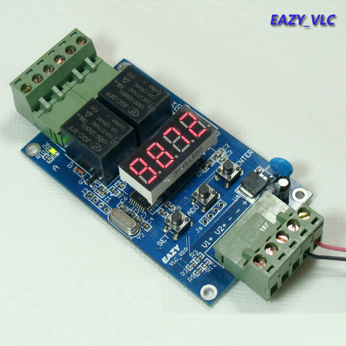 Бесплатная доставка Двойной цепи программируемый реле времени доска/2 напряжение обнаружения управления/trigger/цикл вращения от времени