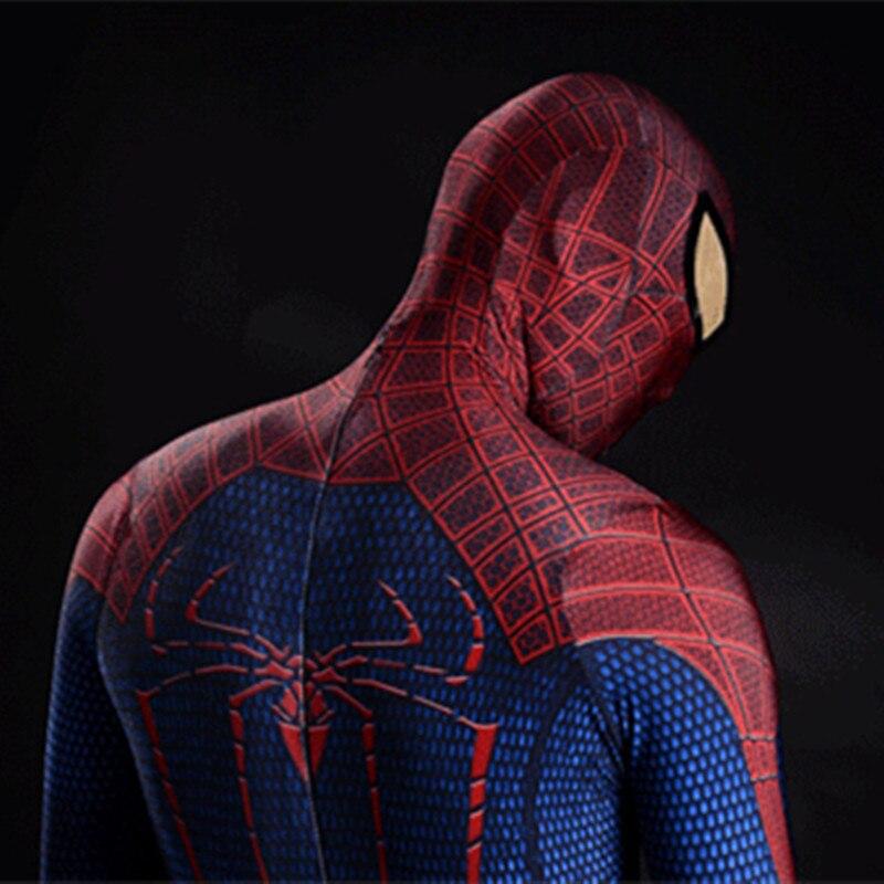 Потрясающий костюм супергероя на Хеллоуин, Человека паука, зентай, костюмы авенерса для женщин и мужчин, Детский костюм спайдермена с глазо