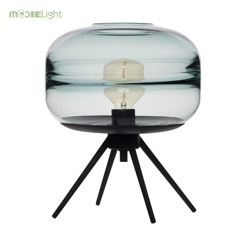 Contemplative Star Ring Art Table Lamp Led Living Room Glass Desk Lamp Bedside Lamp Shade Table Light Night Reading Home Abajur Lamparas De Lights & Lighting Led Lamps