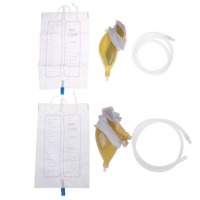 1000ml 2 tipos reutilizáveis masculino feminino saco de urina mictório pee titular coletor para incontinência urinária para viajar acampamento 4