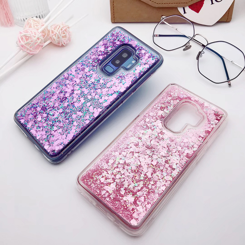 for Samsung Galaxy S9 case Back cover Bling Glitter Dynamic Quicksand Liquid Case for samsung S9 plus cover Galaxy S9 coque (6)