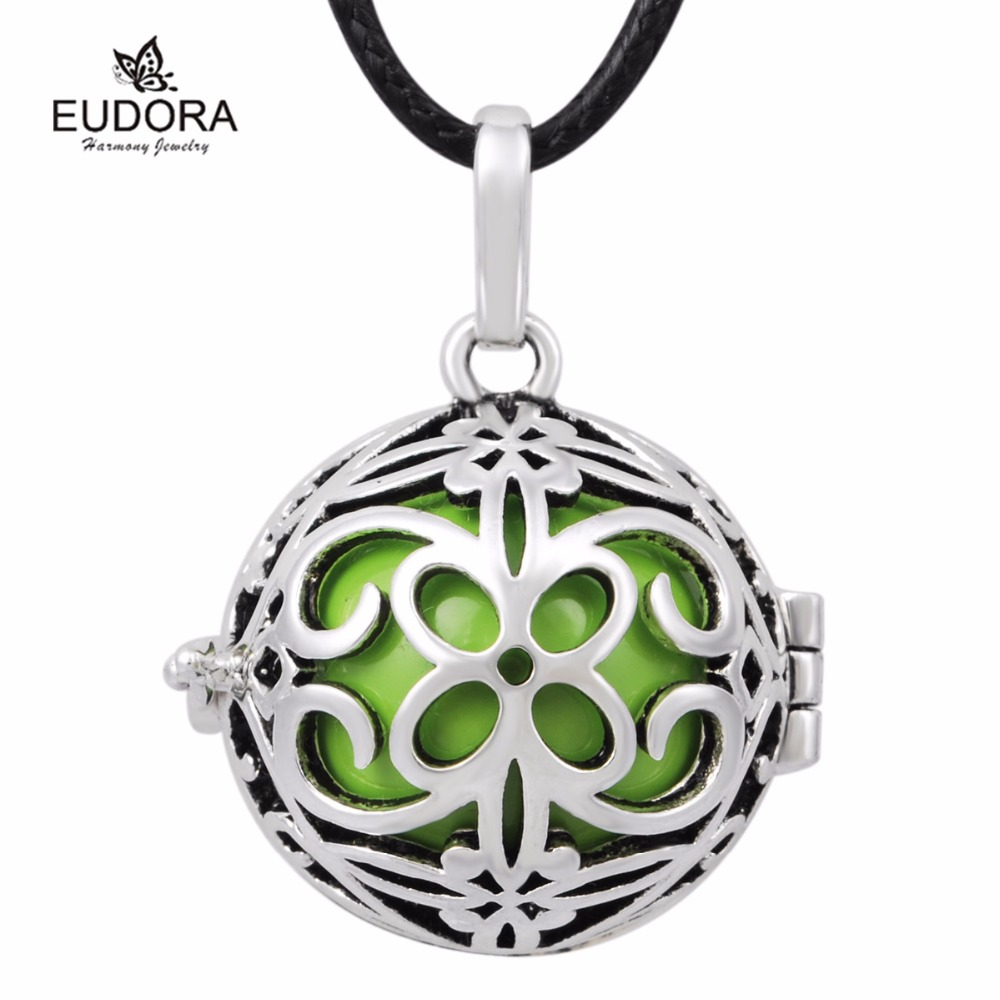Retail Chinese Flower Cage Eudora Harmony Ball 18 mm Pregnant Ball Mexican Bola Charms Pendants For Pregnancy