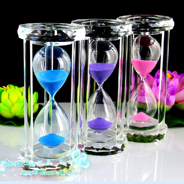 0 crystal hourglass 30 minutes creative home furnishing articles 0 crystal hourglass 30 minutes creative home furnishing articles sand glass birthday gift items negle Gallery