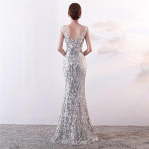 Image 3 - It S YiiyaชุดราตรีSequined Vคอซิปด้านหลังMermaid Party Gowns Royal Backlessความยาวทรัมเป็ตชุดราตรีc181