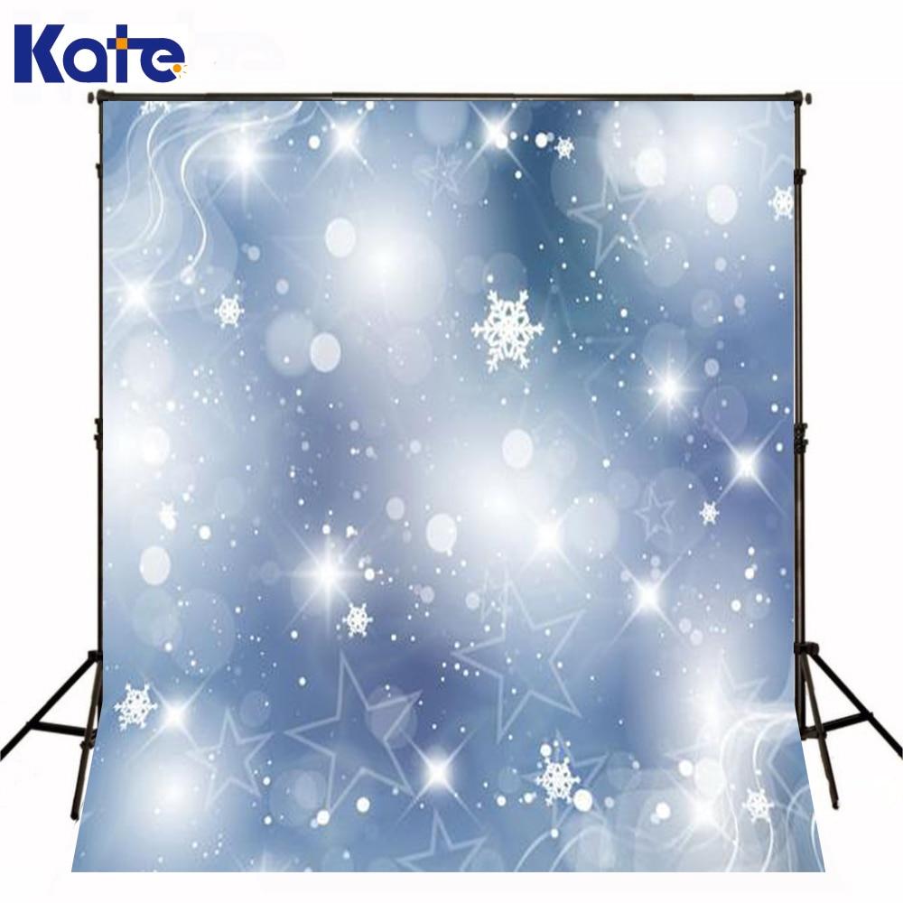 Christmas Backdrop Photography White Wallpaper Silver Snow Flakes Christmas Photo Studio Props Photo Dream Light Background Kate