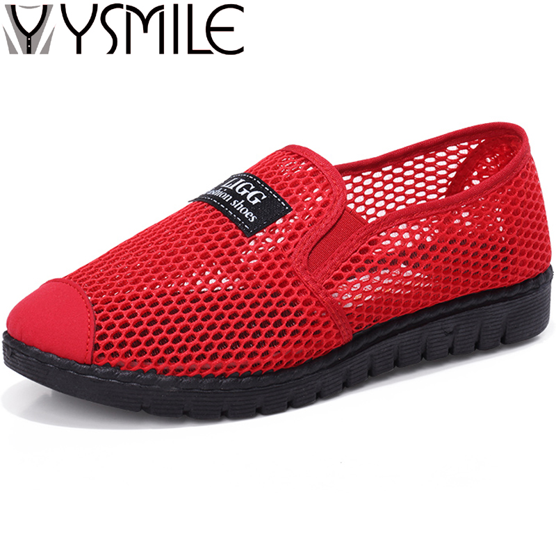 New Fashion Women Flats Shoes Black Breathable Summer Female Walking Shoes Zapatos Mujer Loafers Women Rubber Casual Shoes Red renben air mesh women casual shoes fashion flats walking loafers female shoes woman breathable summer shoes zapatillas mujer