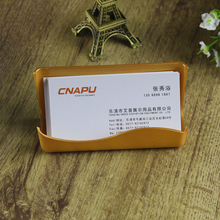 firm office worker plastic business cardcase candy colors convenient company desktop employee name card holder#170418_a75(China)