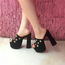 16CM thick with white sandals waterproof heavy-bottomed shoes high with fish head hollow sandals