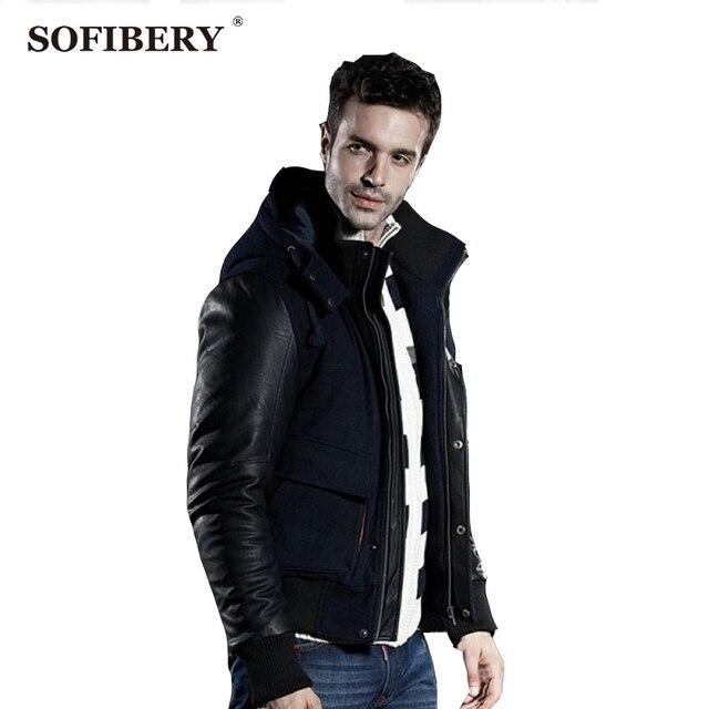 SOFIBERY Пальто/мужская пальто/мужские зимние куртки/ЧЕРНЫЙ пиджак/повседневная шерстяные пальто мужчины/Россия мужчины снег Пальто/M-3XL
