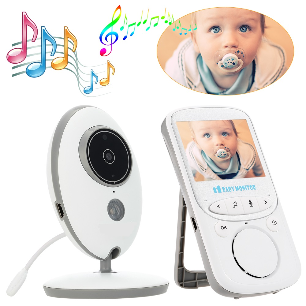 Baba Eletronica nanny babyphone monitor 2.4 inch LCD IR Night vision Temperature Monitor Intercom baby phone vigilabebes-in Baby Monitors from Security & Protection    1